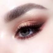 Daily brown eye makeup.