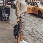 Outfit inspiration. Sweater and leopard print. #animalprint #leopardprint #casualstyle #outfitinspiration #edgywomensfashion
