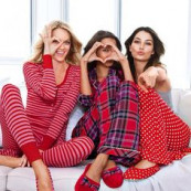 VS PJ's -- #Lindsay Ellingson, #Lais Riveiro, and #Lily Aldridge. Adorable.