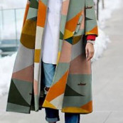Geometric coat. ~ETS #geometric