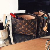 Love LV make up bag