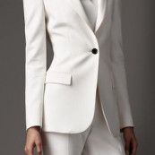 Burberry white suit.