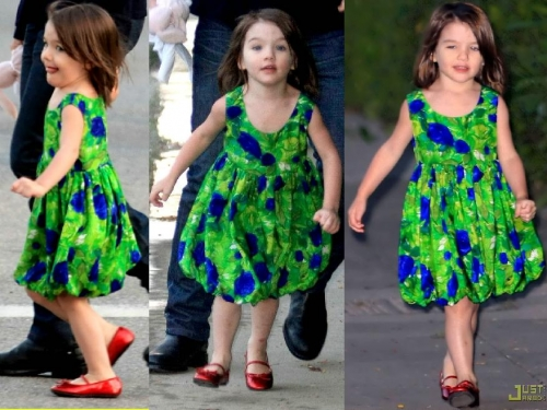 moda infantil vestido floral 2011