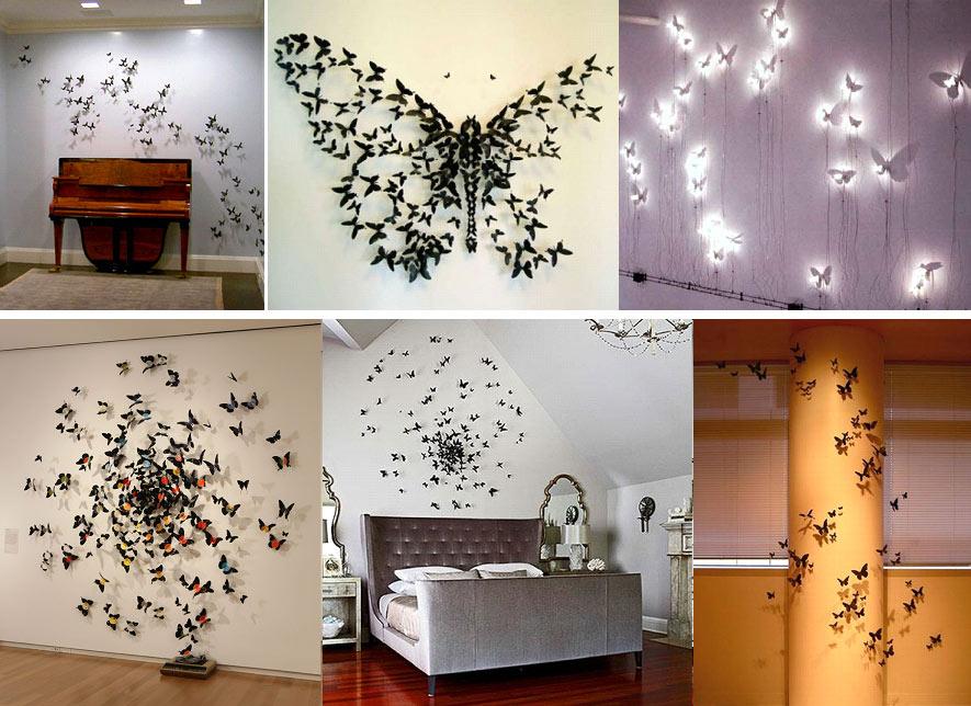 Декор из бабочек своими руками фото