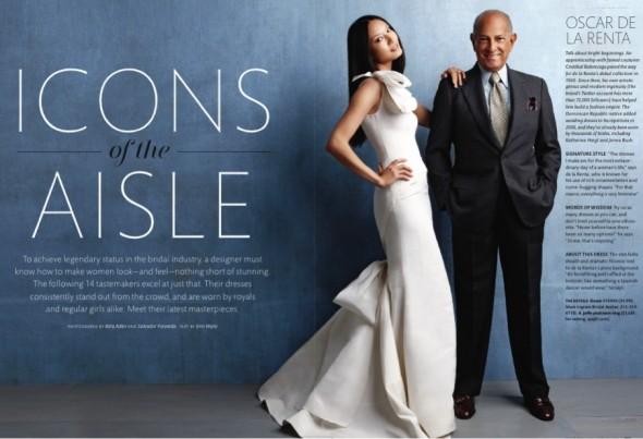 f2a79b9b9 Oscar de la Renta está no mundo da moda há quase 50 anos, mas apenas há 5  desenvolve os vestidos de noiva mais bonitos, de Katherina Heigl a Jenny  Bush, ...