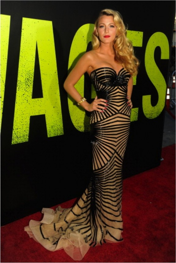 Blake Lively na premiere de Savages!