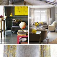 Cores na decor: Cinza + amarelo