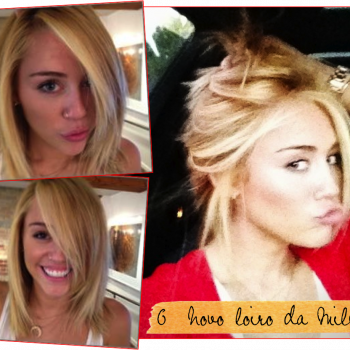 O novo loiro da Miley Cyrus!