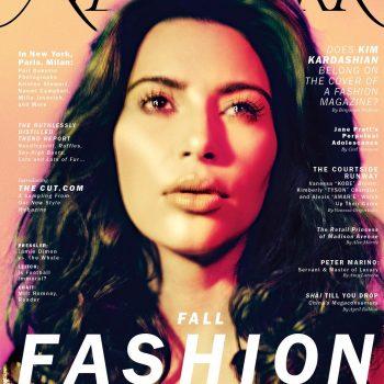 Kim Kardashian pertence à capa de uma revista de moda?