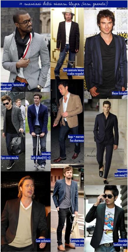 10 maneiras de usar blazer (para eles!)