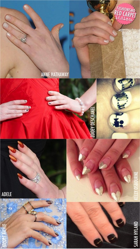 Nail Art no Golden Globe 2013