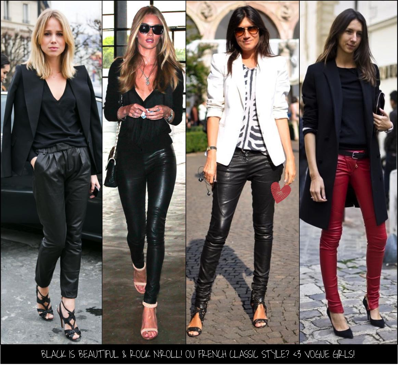 1dc272aaf Na prática: Calça de couro! - Fashionismo