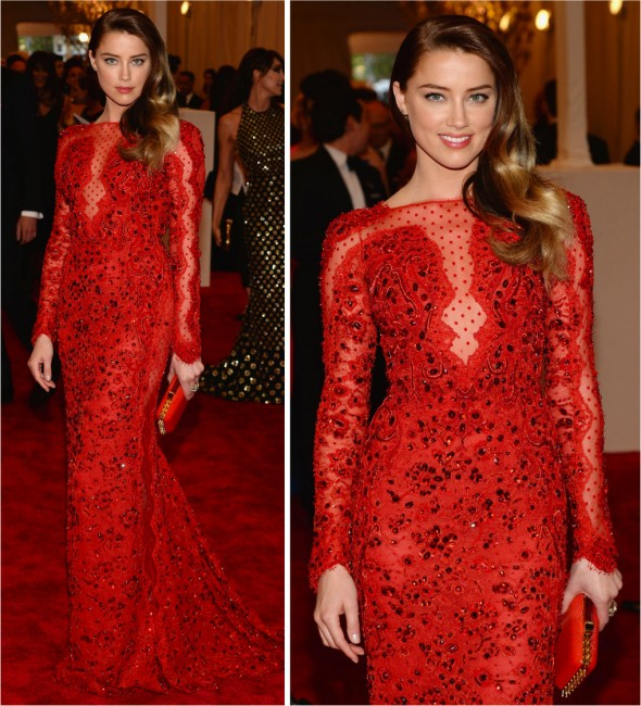 Baile do Met 2013: Amber Heard