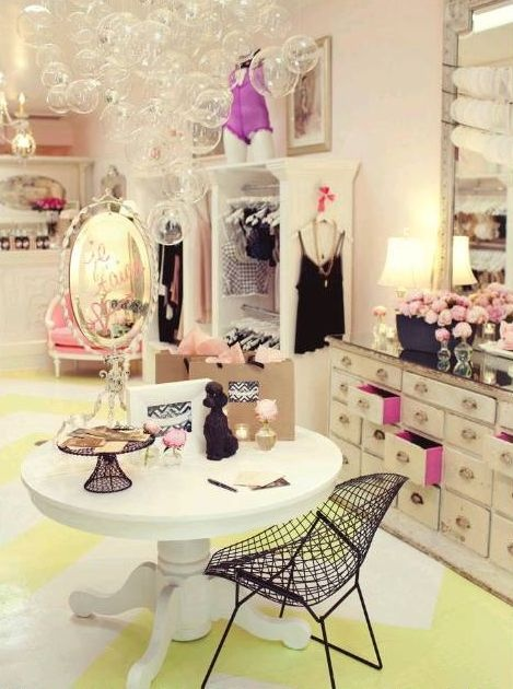 Organizando a lingerie fashionismo for Boutique room design