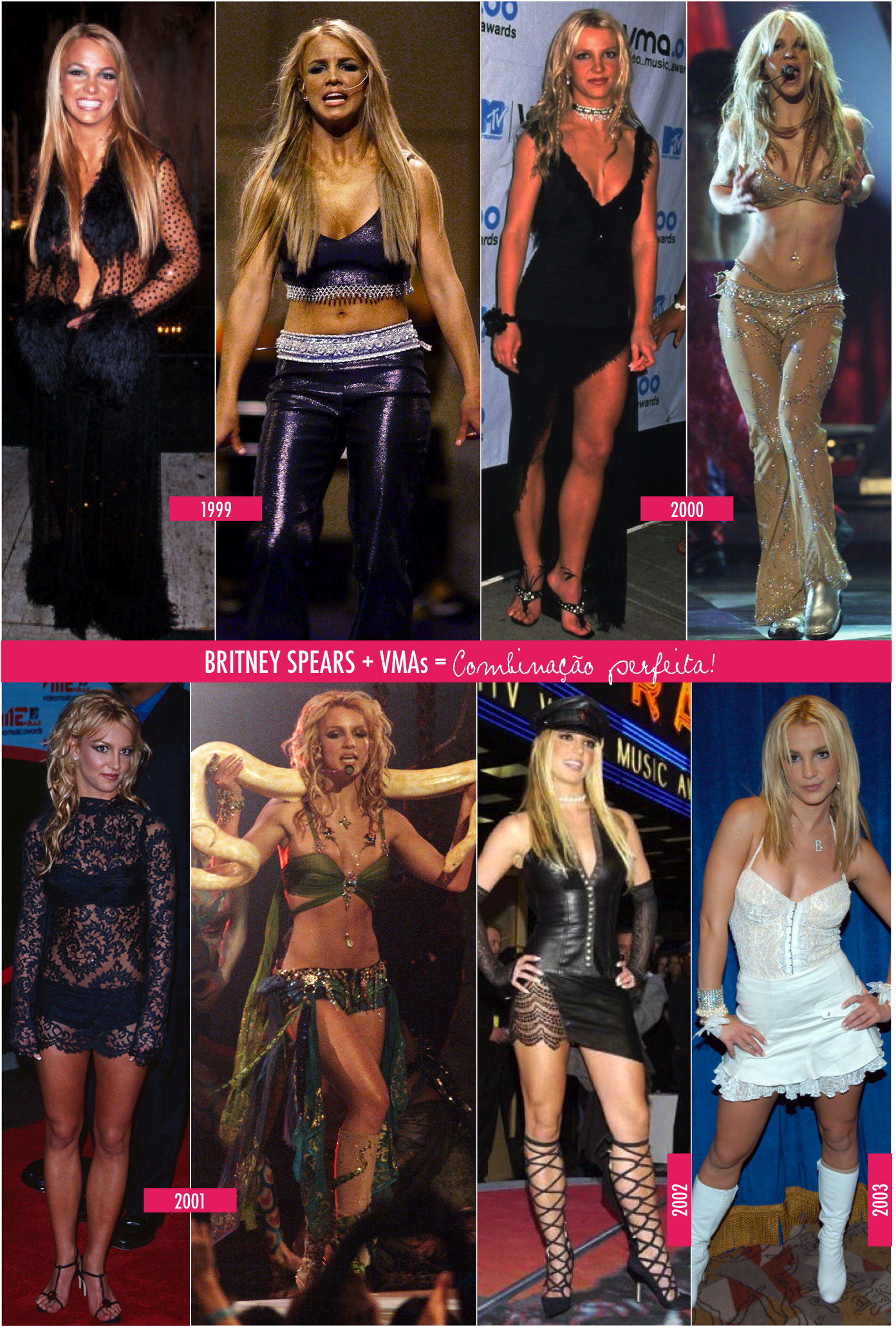 Os looks mais marcantes da Britney!