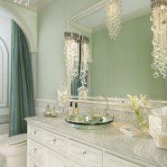 Banheiro verde-água!