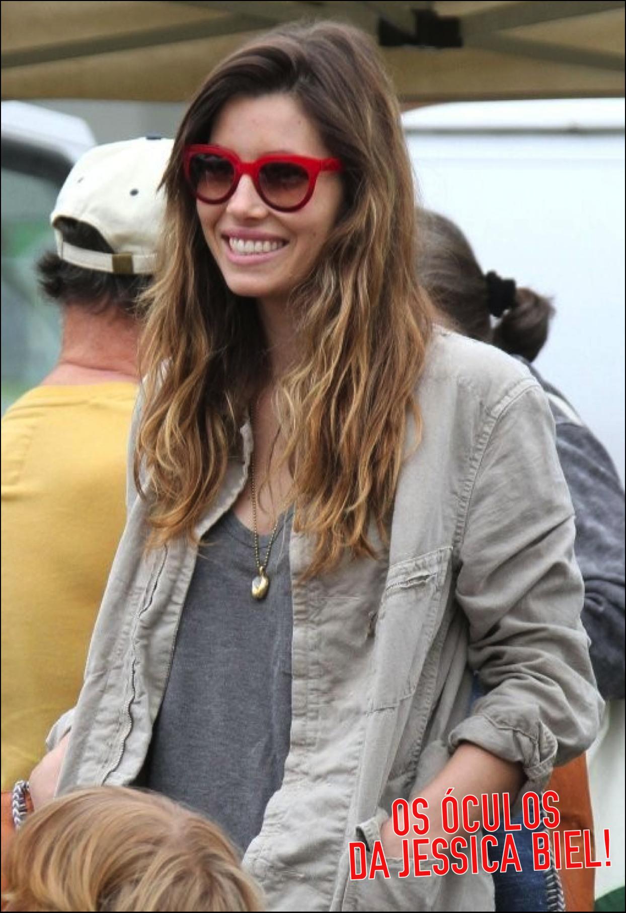 biel red sunglasses