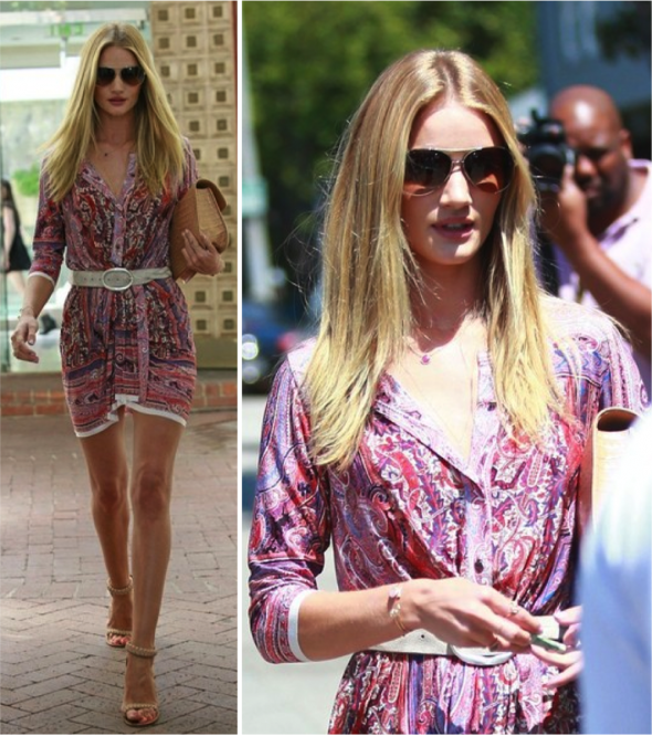 Look da Semana: Rosie Huntington