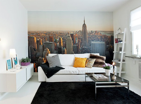 Parede new yorker fashionismo for Bedroom ideas nyc