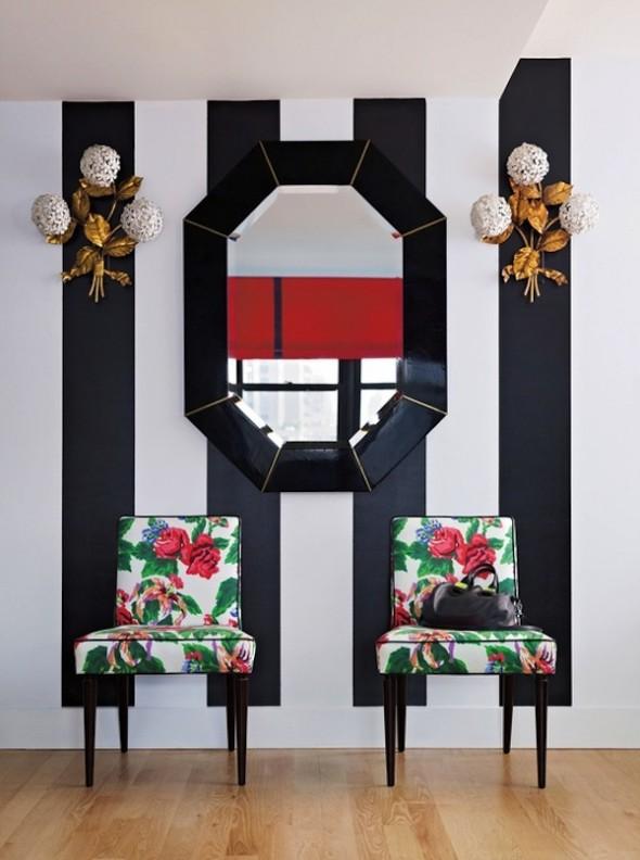 stripes + florals! -- Barrie Benson