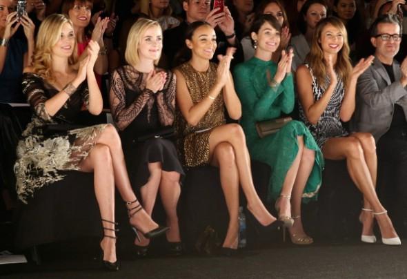 Monique Lhuillier - Front Row - Mercedes-Benz Fashion Week Spring 2014