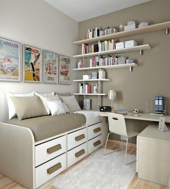 5 ideias de quartos pequenos fashionismo - Office space ideas for small spaces set ...