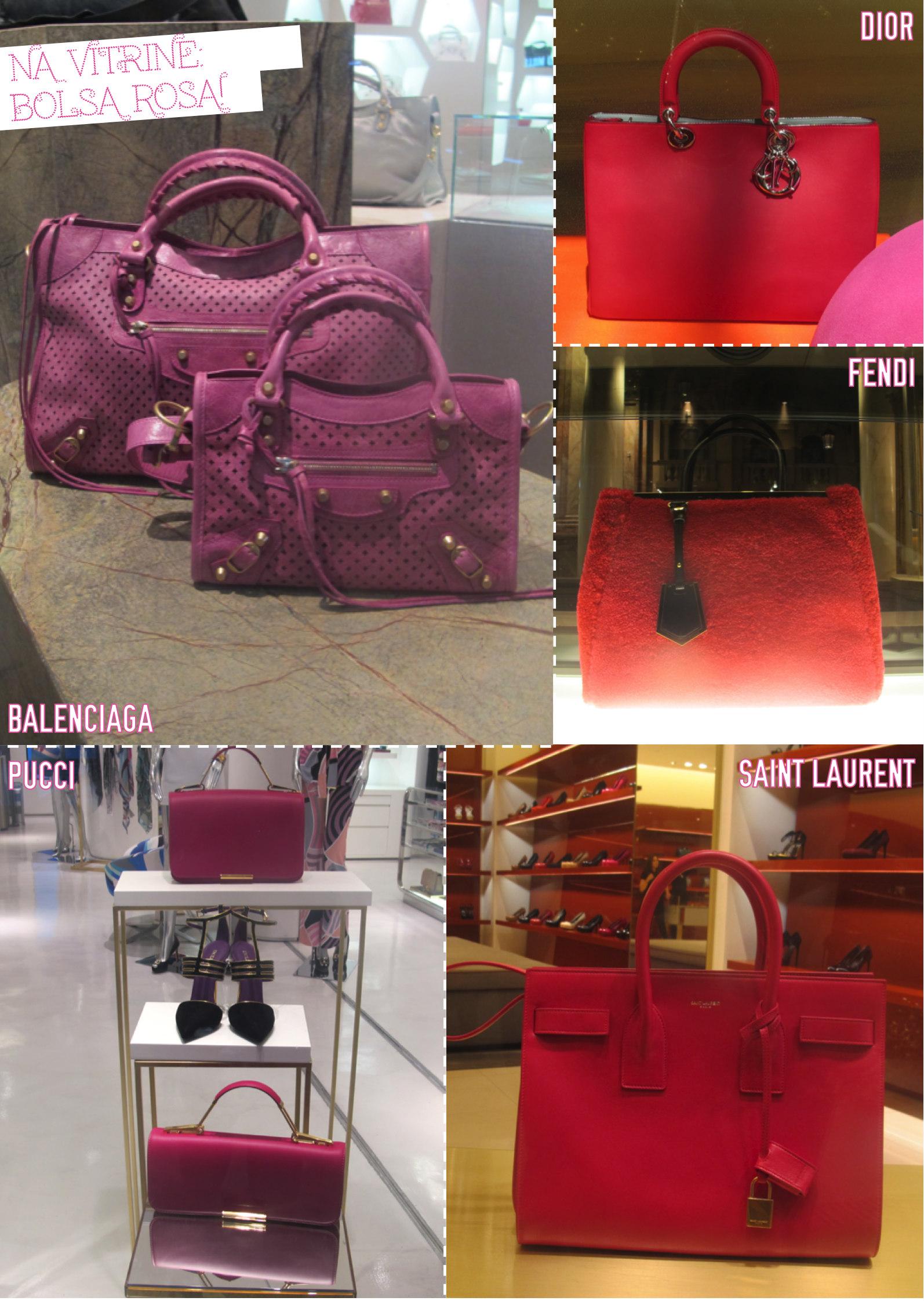 bolsa rosa vitrine