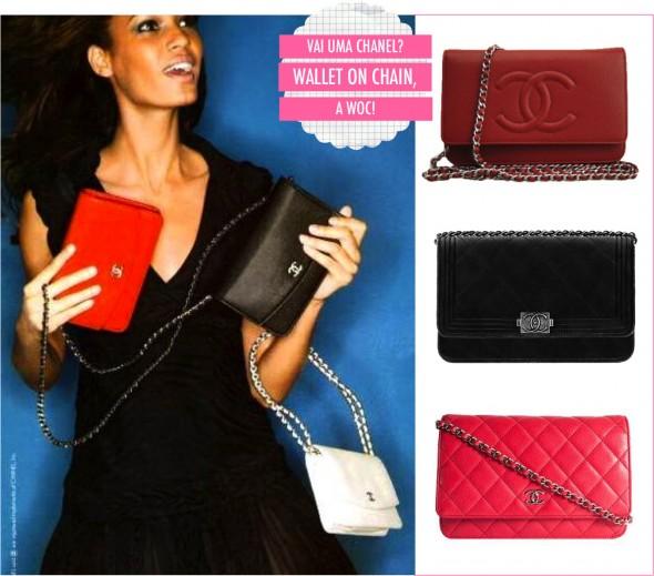0d3f3b9e7 Uma bolsa Chanel mini, fofa e que elas usam pra sair pra jantar no L'Avenue  ou fazer um passeio por Saint German.
