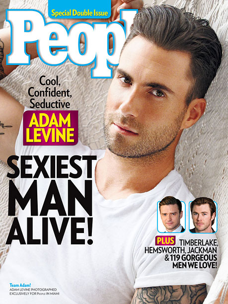 Adam Levine on the Cover of People Magazine
