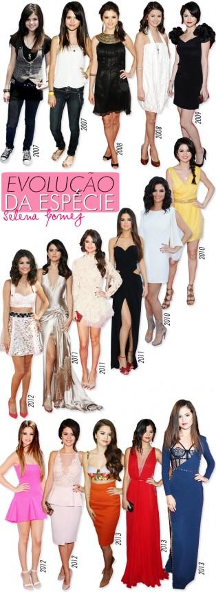 Evolução da Espécie: Selena Gomez