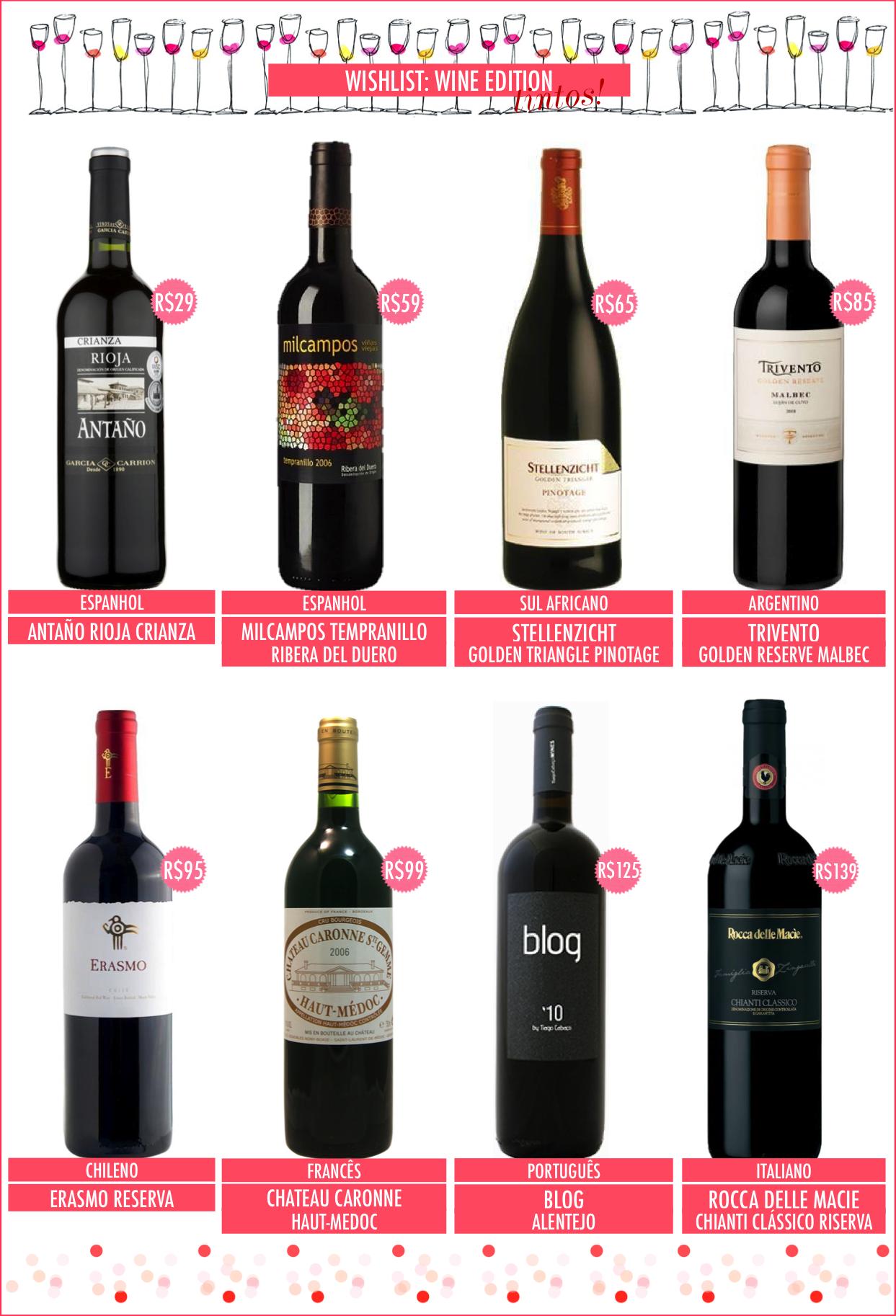 16 sugestões de vinhos para fim de ano (e o ano todo também)!