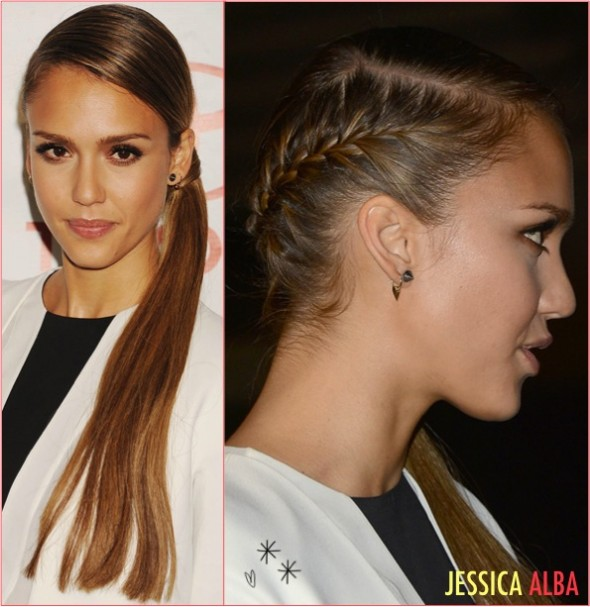 11jessica alba ponytail