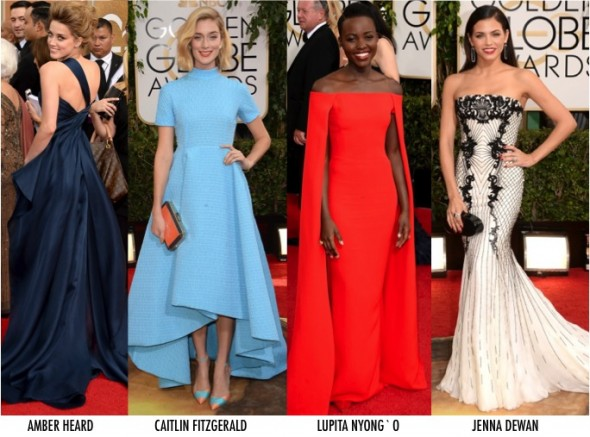 2 LOOKS GOLDEN GLOBE 2014