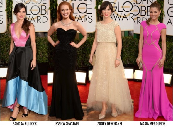 3 LOOKS GOLDEN GLOBE 2014