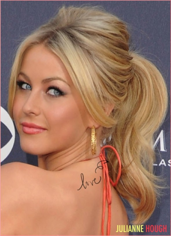 4 julianne hough ponytail