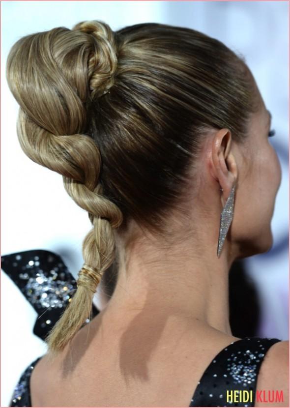 9 heidi klum ponytail