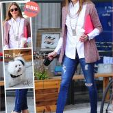 LDC: Olivia Palermo e um look pra trabalhar!