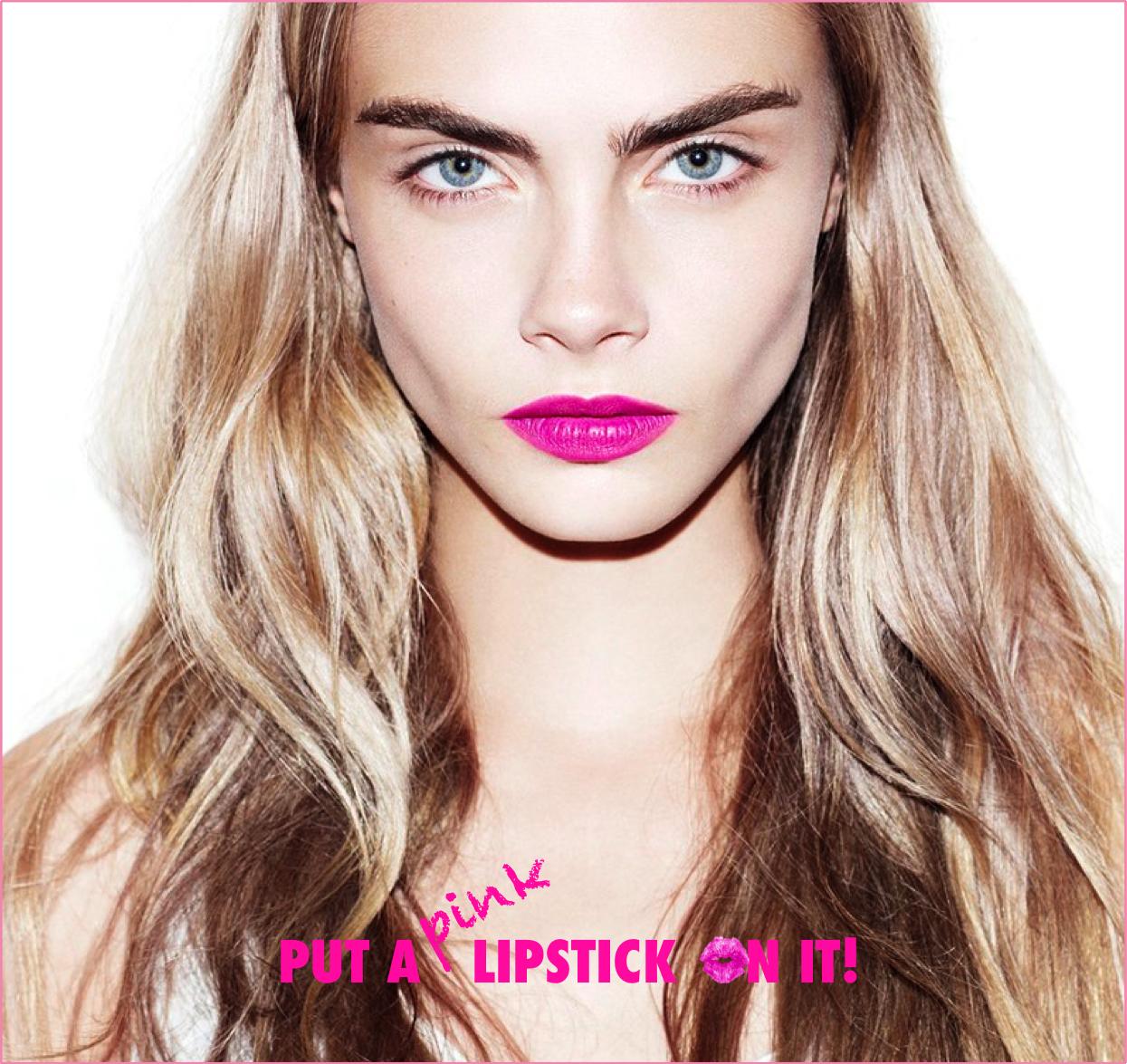 put a pink