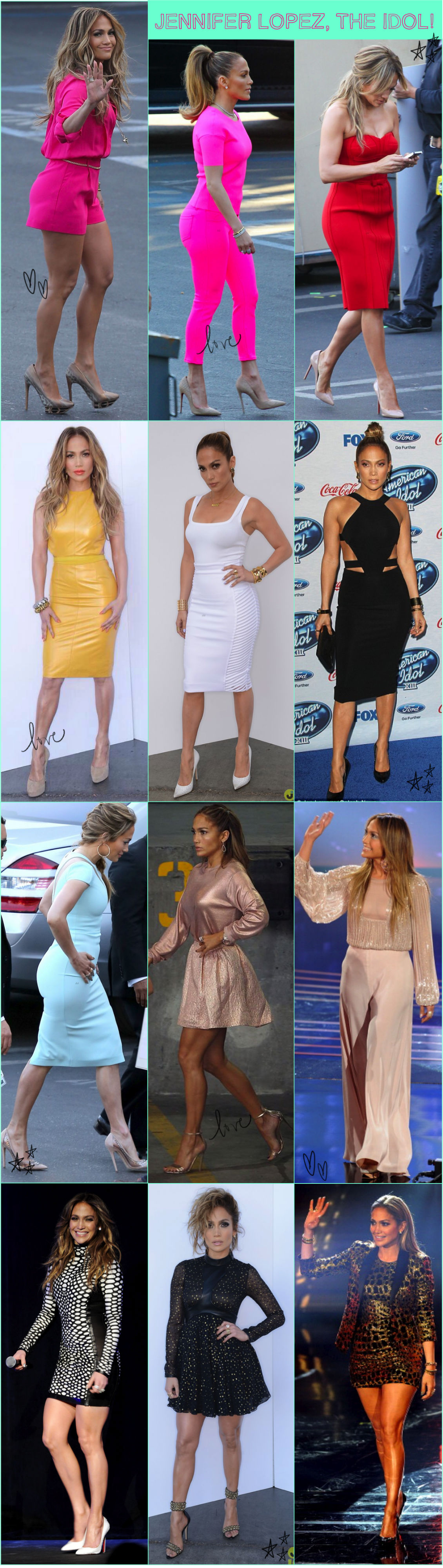 JLO AMERICAN IDOL LOOKS OUTFIT