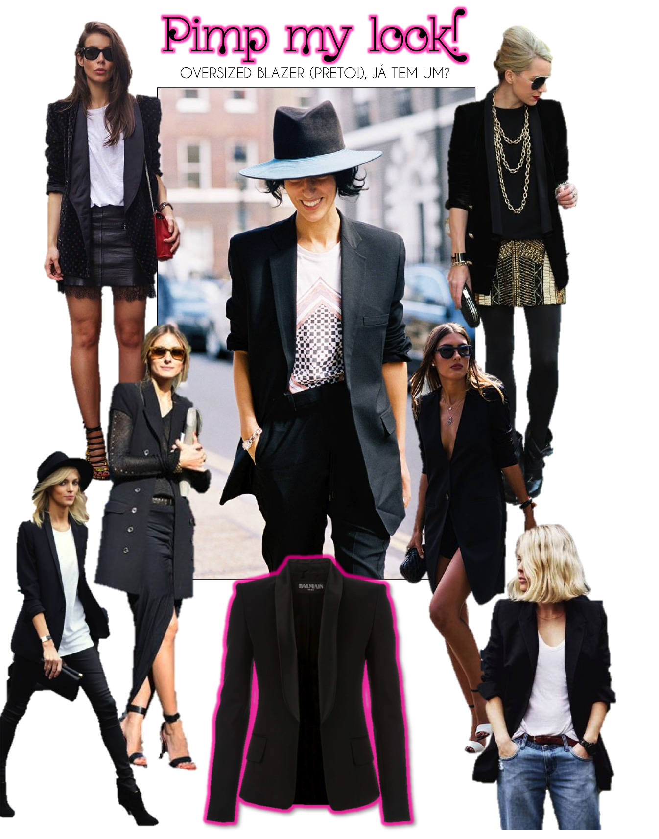 PIMP MY LOOK OVERSIZED BLAZER