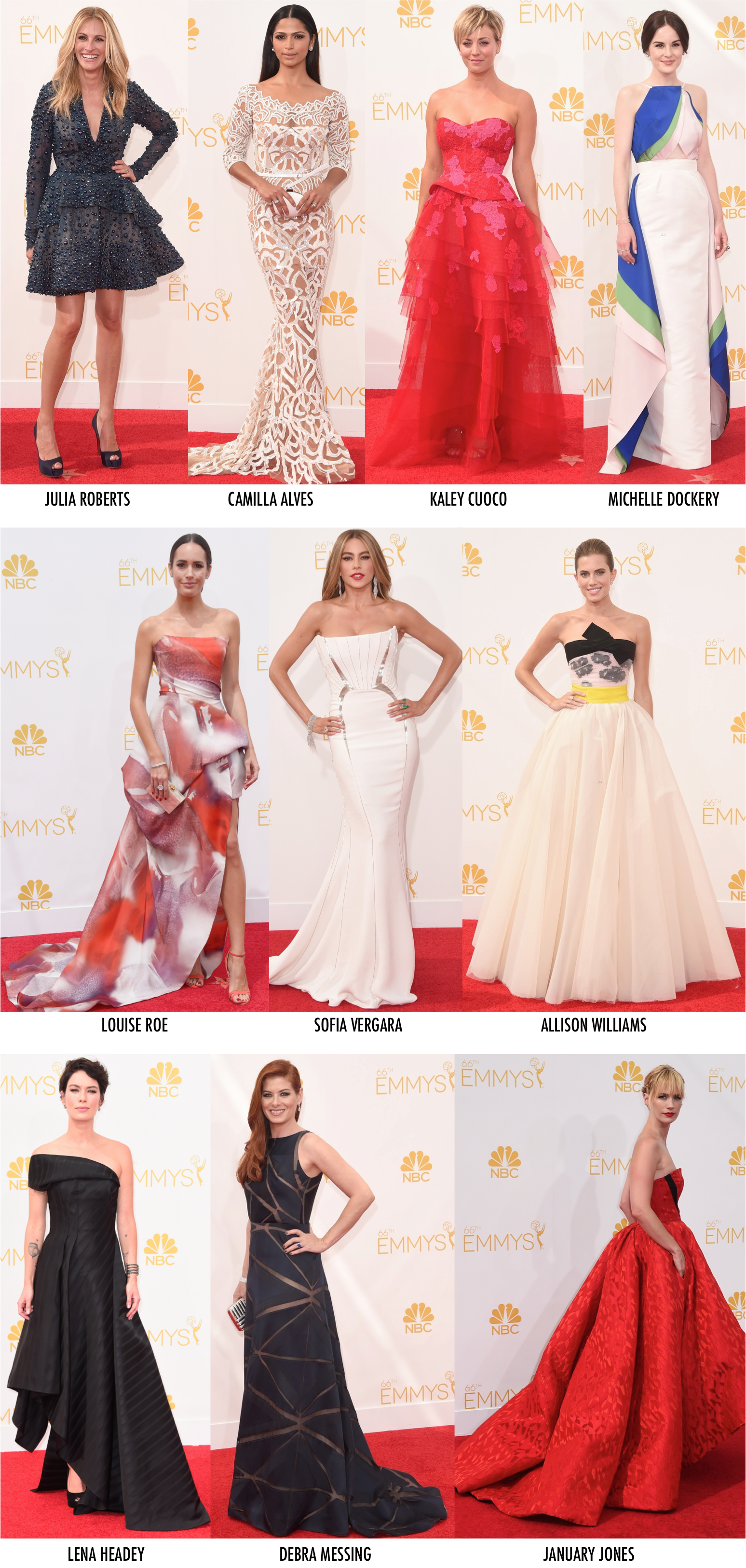 As mais bem vestidas do Emmy 2014