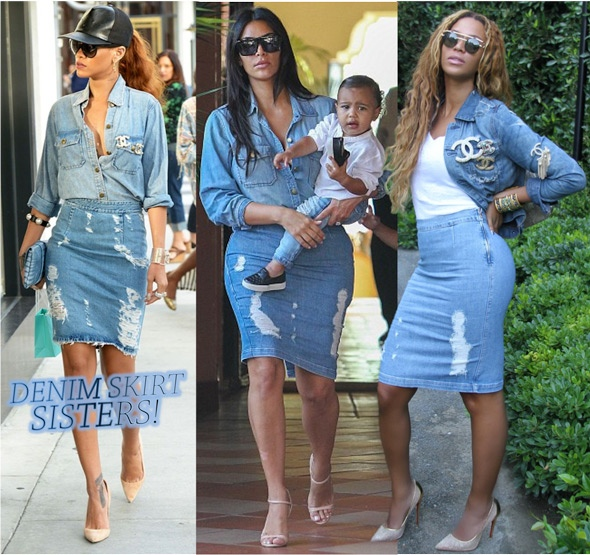 b822d40cd A saia - lápis - jeans da discórdia! - Fashionismo