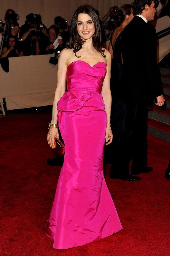 Rachel-Weisz-Pink-Dress