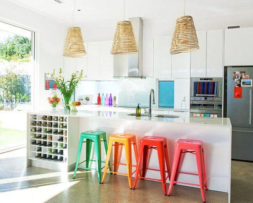 Chaise Salle A Manger Rose : Cozinhas coloridas e cheias de vida fashionismo