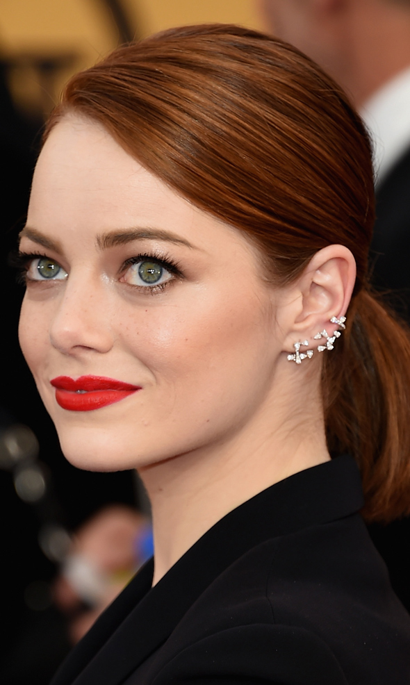 SAG AWARDS 2015 BEAUTY emma stone