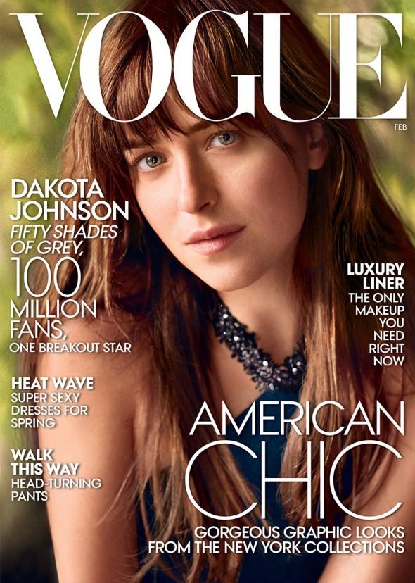DAKOTA JOHNSON VOGUE COVER | FASHIONISMO