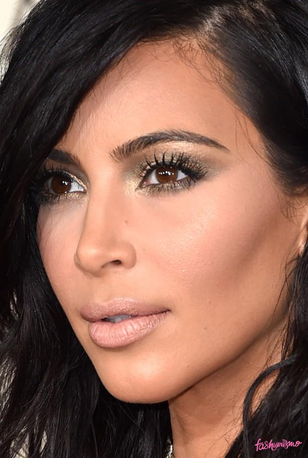 kim kardashian makeup grammy 2015