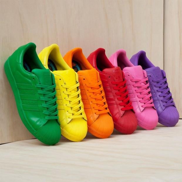 tenis adidas de colores