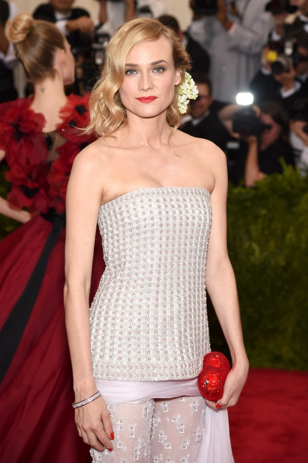 """NEW YORK, NY - MAY 04:  Diane Kruger attends the """"China: Through The Looking Glass"""" Costume Institute Benefit Gala at the Metropolitan Museum of Art on May 4, 2015 in New York City.  (Photo by Dimitrios Kambouris/Getty Images)"""