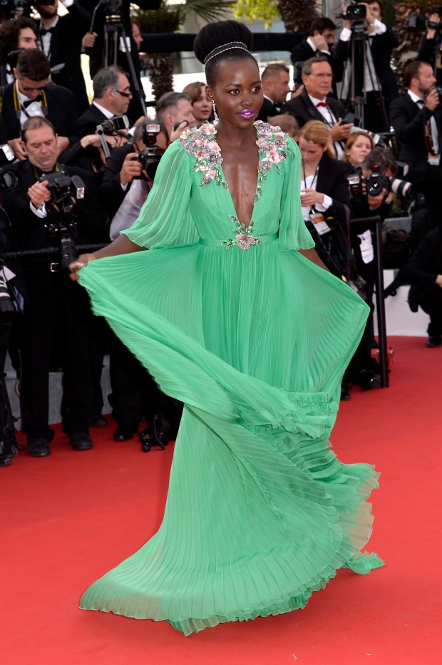 """CANNES, FRANCE - MAY 13:  Actress Lupita Nyong'o attends the opening ceremony and premiere of """"La Tete Haute"""" (""""Standing Tall"""") during the 68th annual Cannes Film Festival on May 13, 2015 in Cannes, France.  (Photo by Pascal Le Segretain/Getty Images)"""